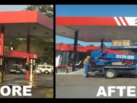 Fuel Canopy Before and After