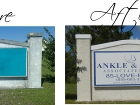 Sign Cleaning and Graphic Installation