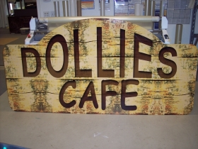 Dollies Cafe Sign